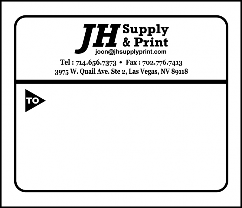shipping label sample #1